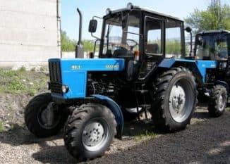 устройство трактора мтз 82