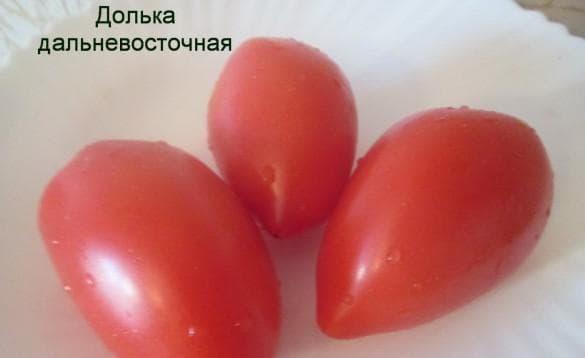 помидоры Долька Дальневосточная