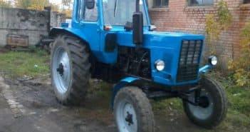 трактора мтз 80 в работе