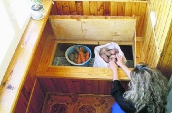 хранение картошки на балконе