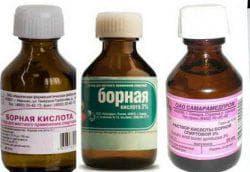 разведение борной кислоты