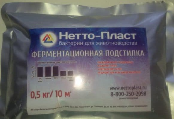 бактерии для подстилки Нетто-пласт