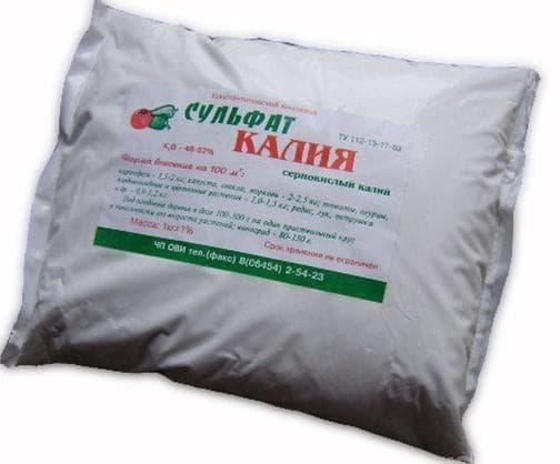 Сульфат калия удобрение применение