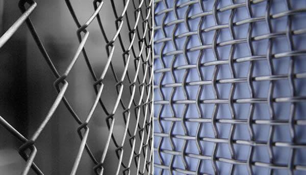 сетка плетеная металлическая