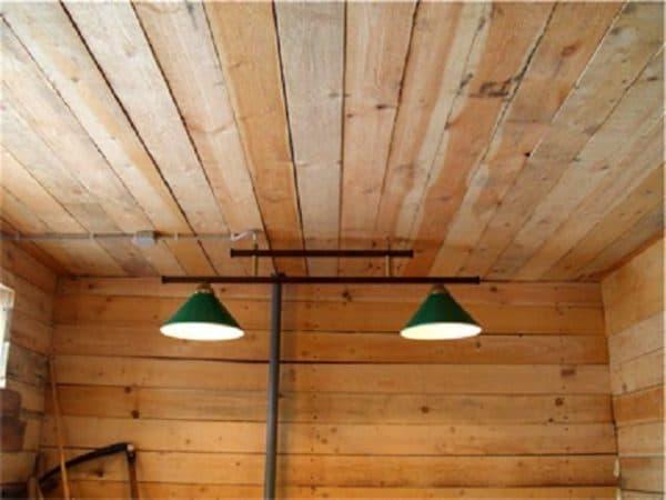 расположение ламп в курятнике